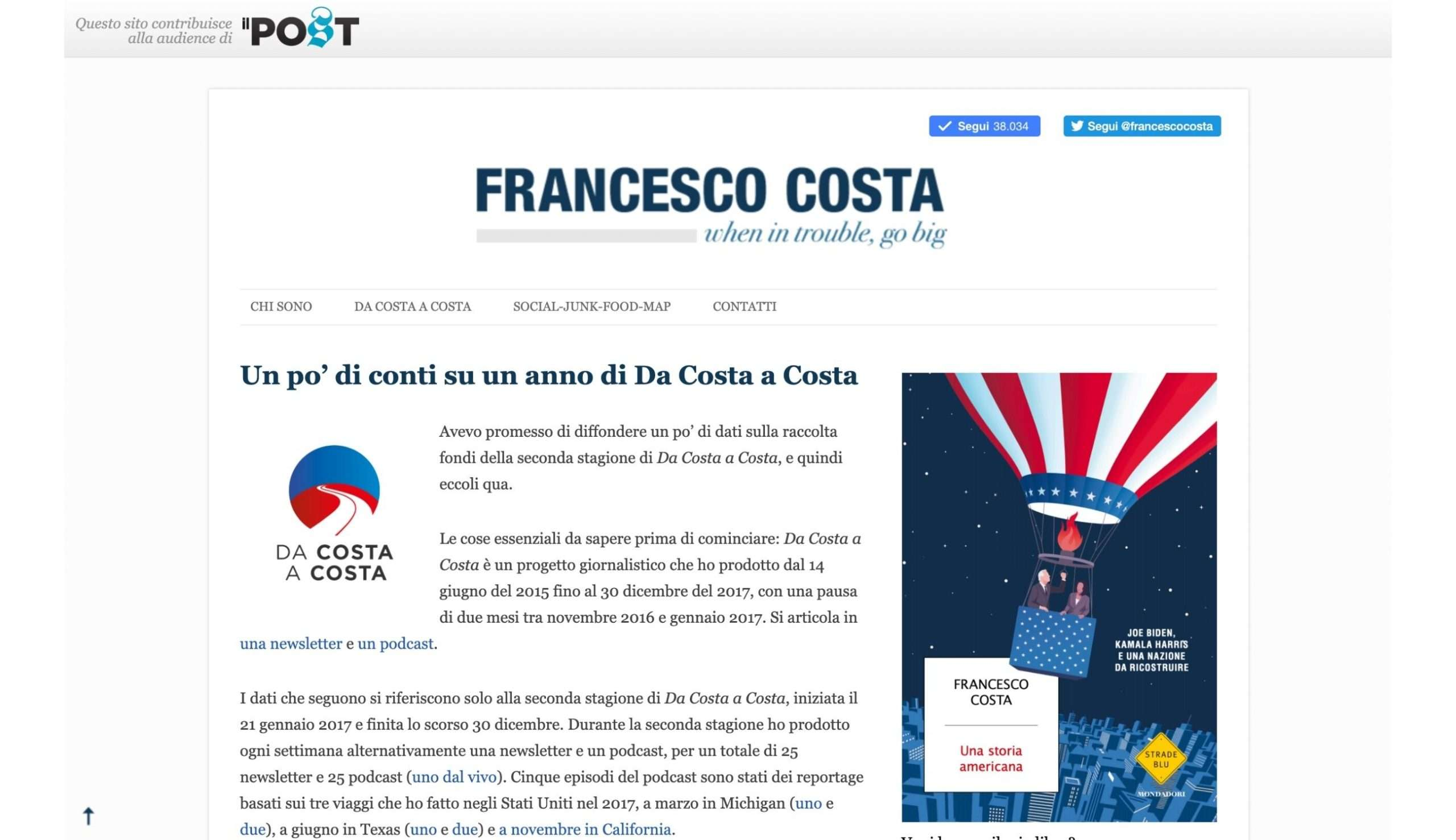 Da Costa a Costa 2017