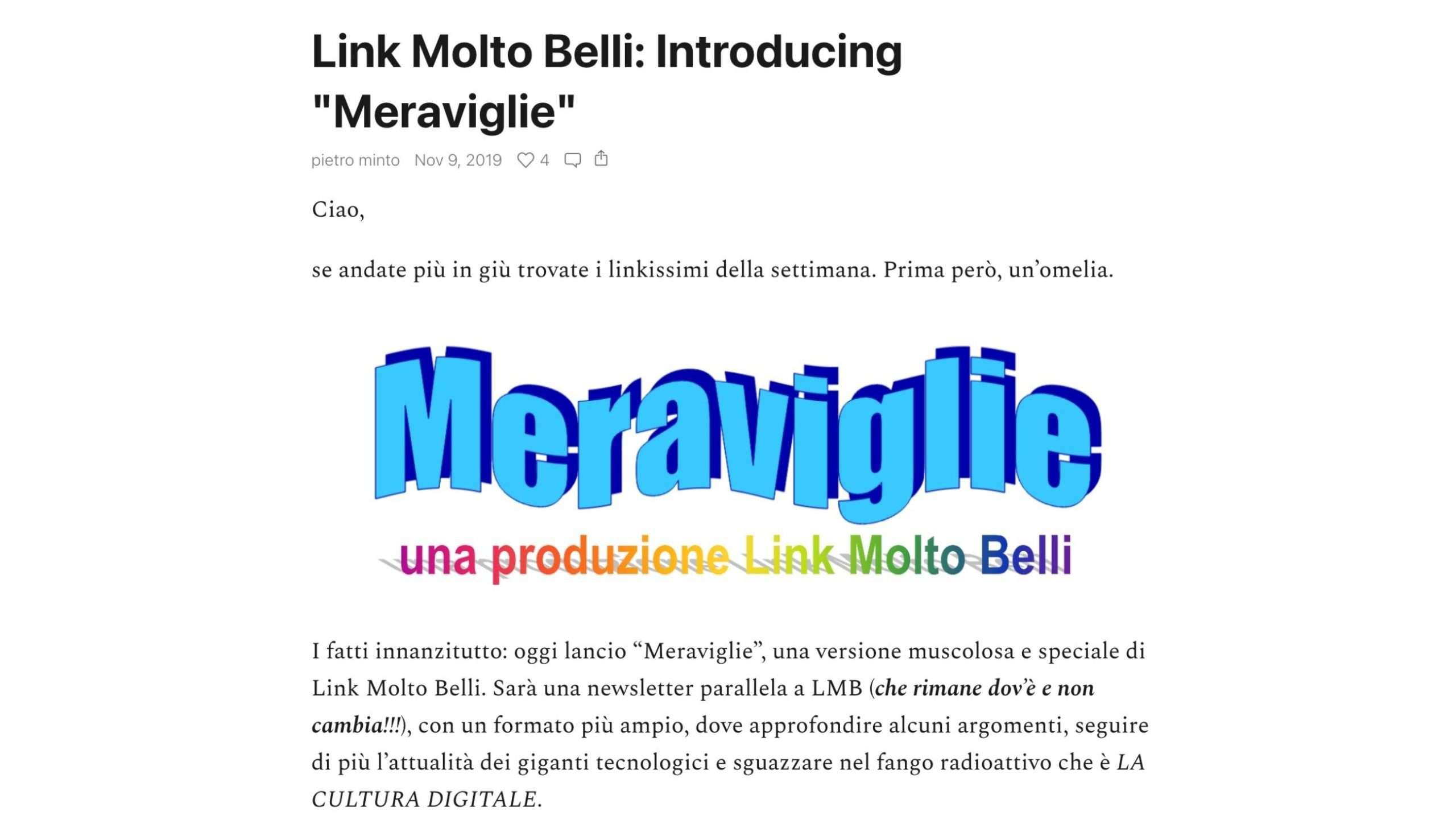 Meraviglie - Pietro Minto