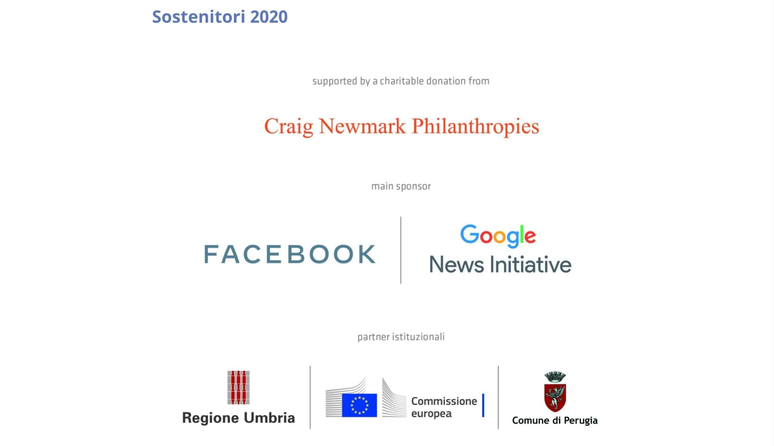 Sostenitori 2020 Festival del Giornalismo