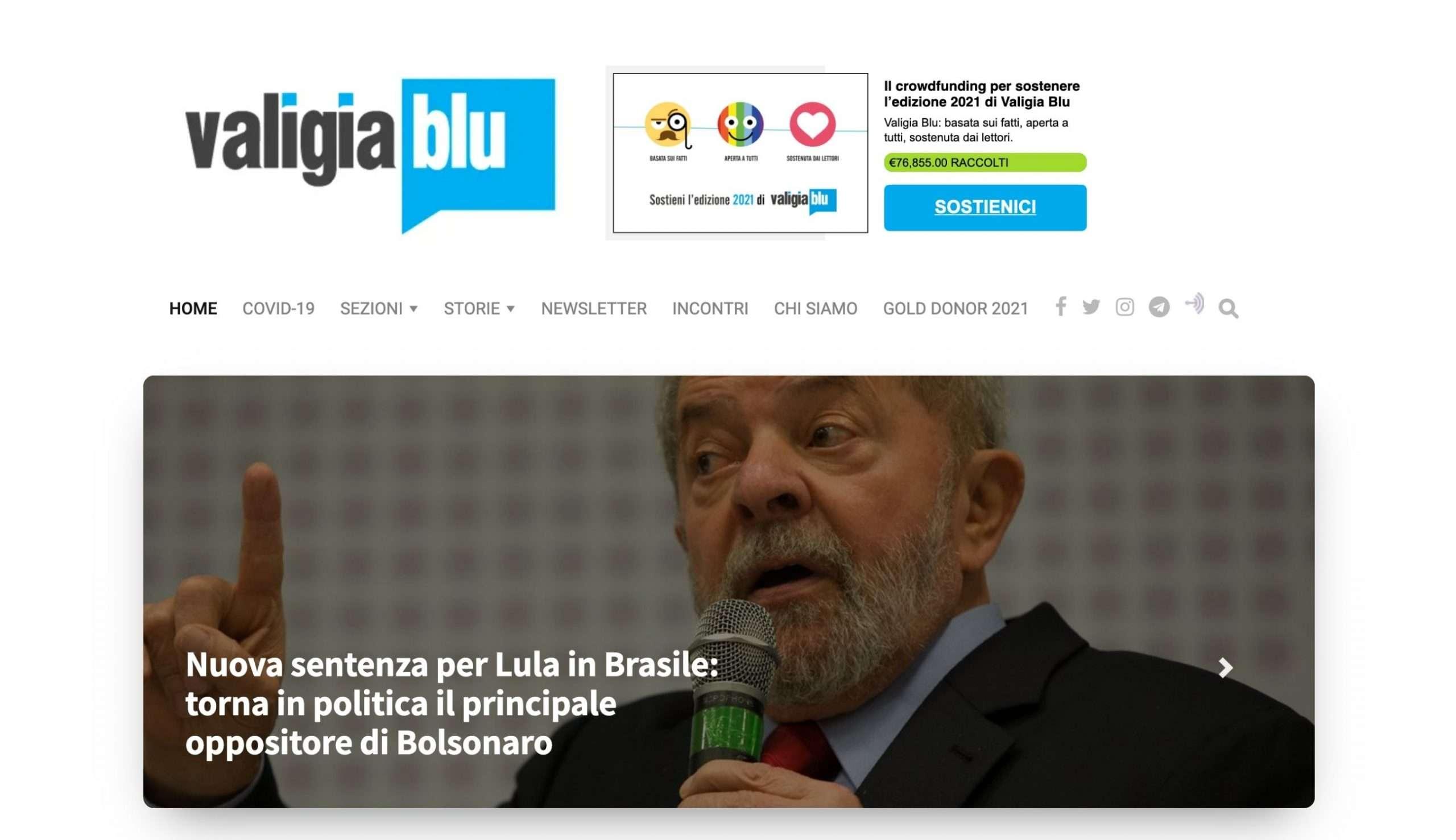 Valigia Blu - Homepage