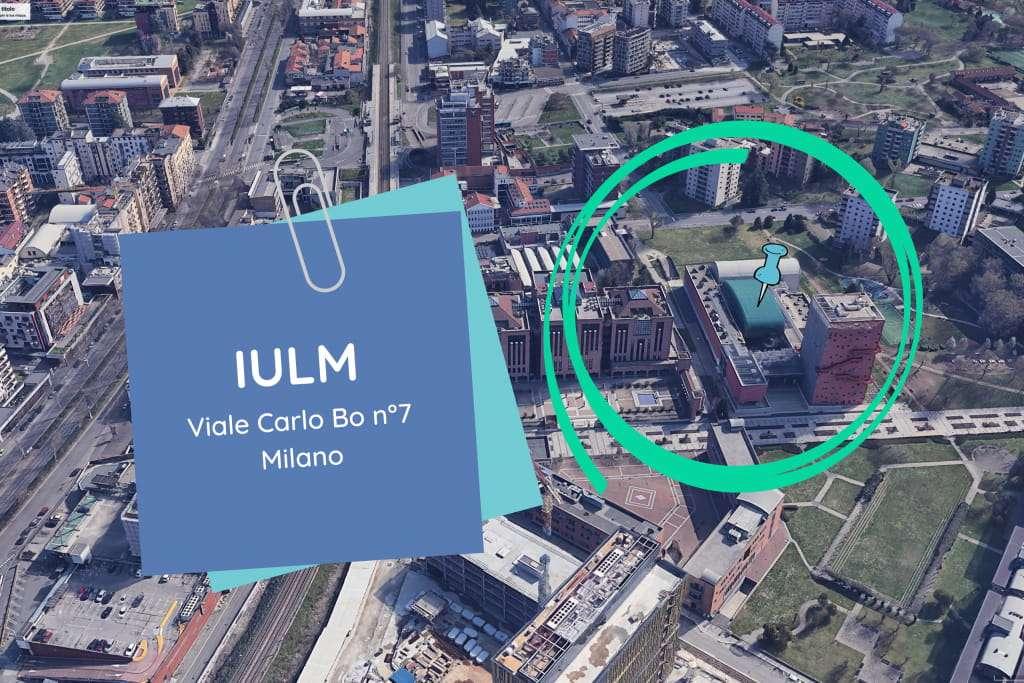La scuola di giornalismo IULM indicata nella mappa di Google Earth Pro